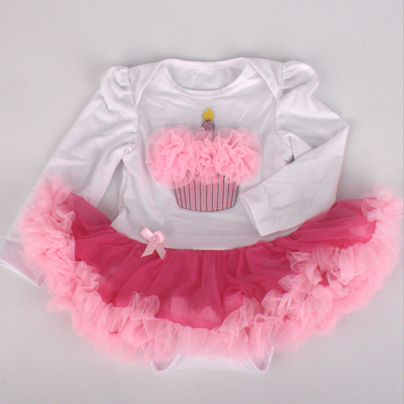 Admirable 1Pc Hot Pink Tulle Lace Romper Bowtie Baby Girls Birthday Cake Funny Birthday Cards Online Overcheapnameinfo