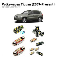 Led interior lights For volkswagen tiguan 2009+  12pc Lights Cars lighting kit automotive bulbs Canbus