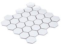 12x12 hexagon white ceramic mosaic tile,kitchen backsplash/Bathshower home wallpaper decor,toliet floor meshback sticker,LSHX501