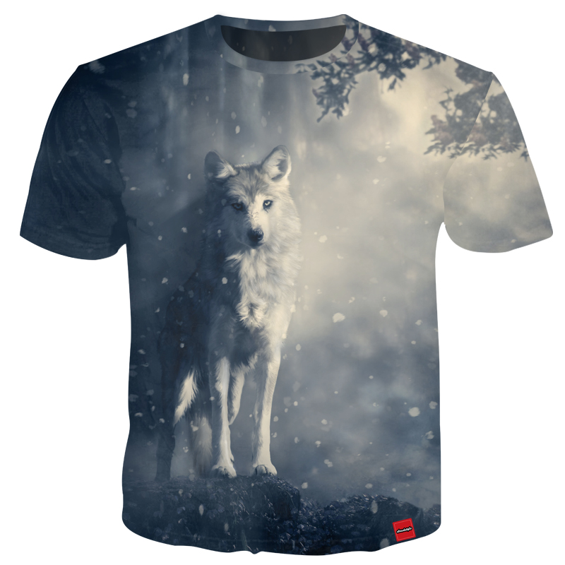 YOUTHUP 2018 Harajuku T Shirts Men 3D T Shirt Unisex Casual Tops Outwear Funny Animal Unicorn T Shirts Tiger Lion Wolf T Shirts