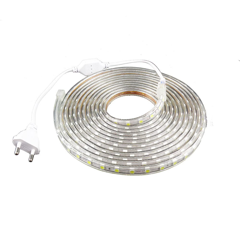 220V Led Strip 5050 Epistar-chip med strömuttag 1 2 3 4 5 6 7 8 9 10 - LED-belysning - Foto 6