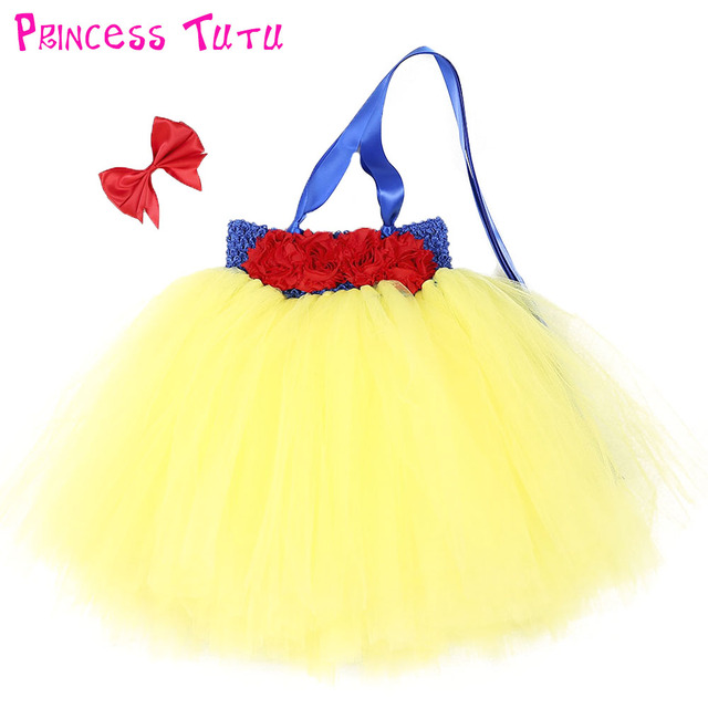 Snow White Baby Communion Character Dresses Toddler Tutu Dress For Newborn Birthday Party Girl Vestidos Formal Clothing Wear