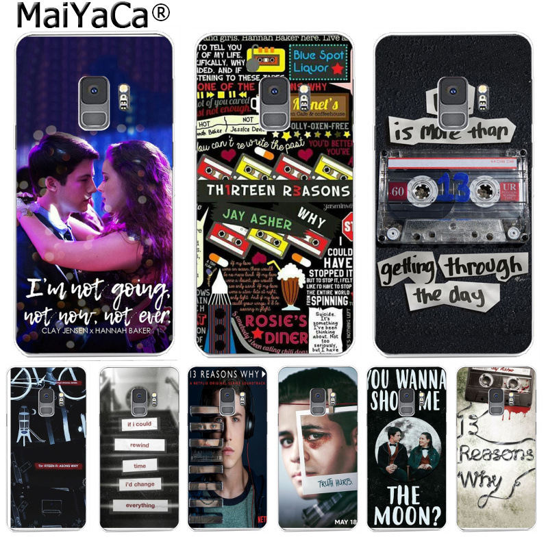 MaiYaCa <font><b>13</b></font> Thirteen <font><b>Reasons</b></font> <font><b>Why</b></font> Color <font><b>Phone</b></font> <font><b>Case</b></font> Back Cover for Samsung S9 S9 plus S5 S6 S6edge S6plus S7 S7edge S8 S8plus image