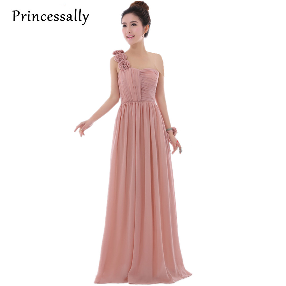 Online Shop Dusty Rose Pink Dress Cheap Bridesmaid Dresses Long Chiffon  Strapless Beautiful Vestido De Festa Longo Party Prom Dress Under 50  3fe5708441f0