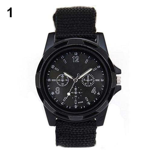 New Solider Military Army Men s Sport Style Belt Luminous Quartz Wrist Watch 4 Colors 1HGI