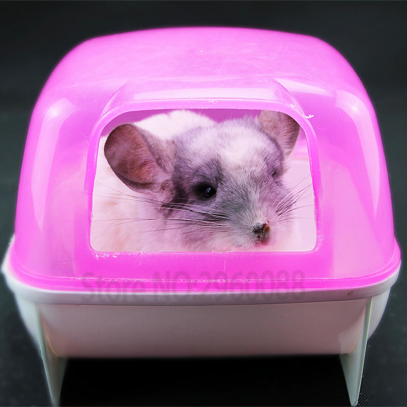Hot Sell Chinchillas Cage Bathroom Hedgehog Toy Sauna Bathtub Hamster House Guinea Pig Bed Small Pet Accessories