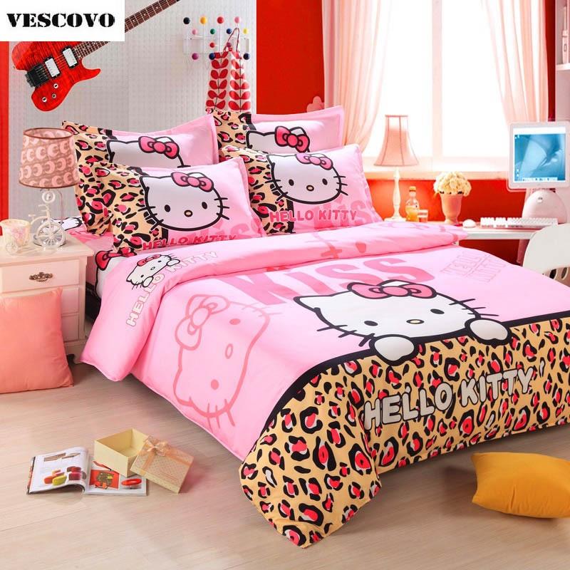 Cute Hello Kitty Bedding Duvet Quilt Cover Bedding Set ...
