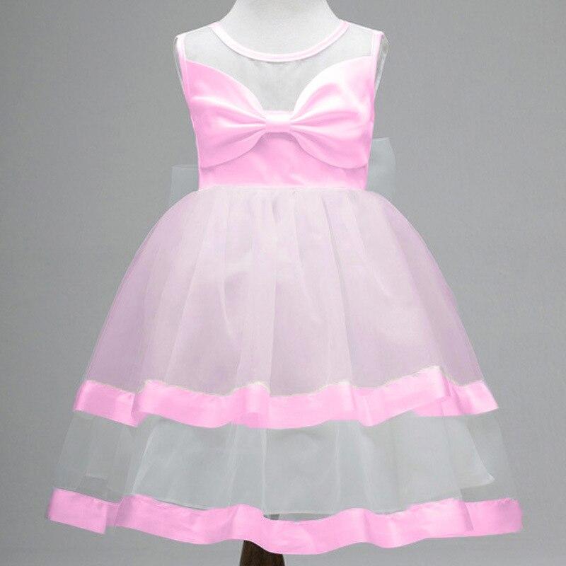 ₪2017 niños desgaste arco grande Niñas princesa vestido de fiesta de ...
