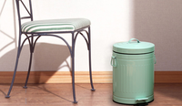 Retro American Practical Thickening Trash Can With Pedal Kitchen Bathroom Living Room Waste Bins Office Home Accessories Q159