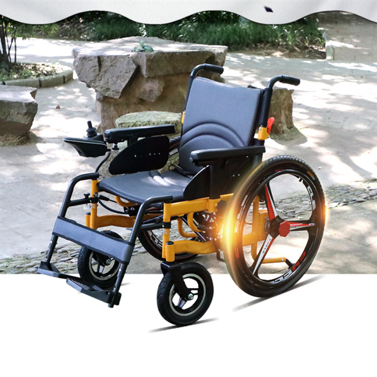 Aluminum alloy full intelligent electric font b wheelchair b font elderly font b disabled b font