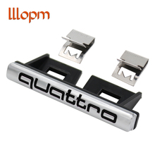 Car Styling Quattro Front Grille Emblem Badge Chrome Metal+Plastic ABS Front Grill Mount for Audi A3 A4 A5 A7 S3 S4 S5 S6 S8 C6