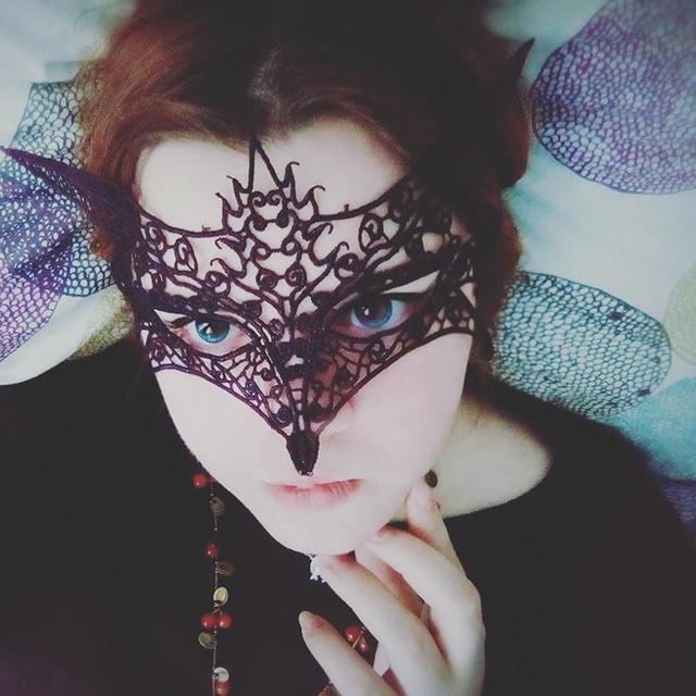 Sexy Black Cutout Lace Mask