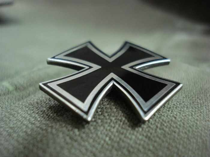 Bahasa Jerman Iron Cross Pin Lencana