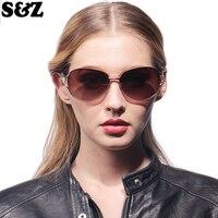 Freies Verschiffen Große Größe Rahmen Oval Gespiegelt Polarisierte Sonnenbrille Frauen Hohe Qualität Lila Farbe Weibliche Polarisierte Sonnenbrille