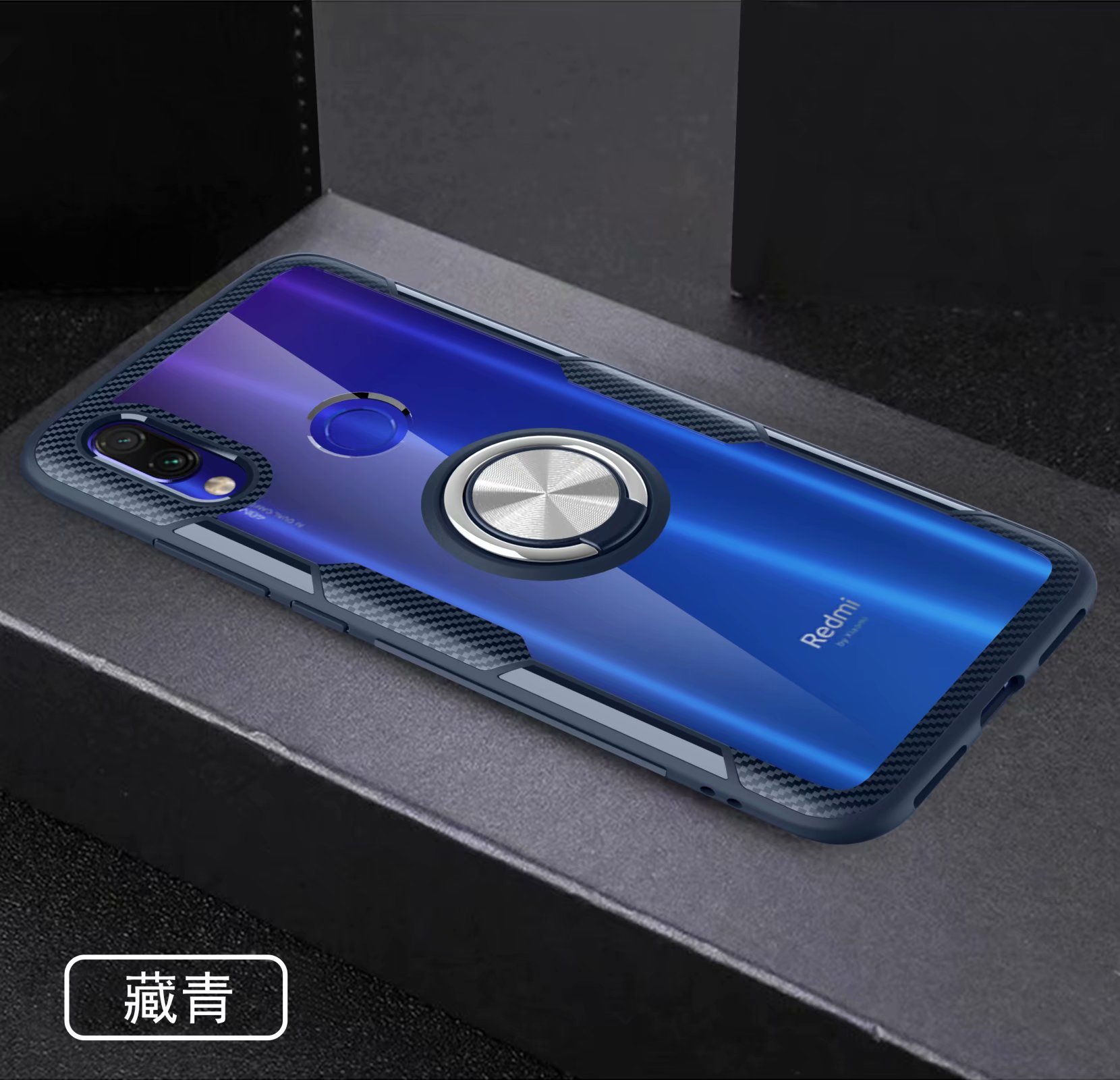 For Xiaomi Redmi Note 7 Pro Case With Ring Stand Magnet Transparent shockproof Protective Back Cover case for xiaomi redmi 7