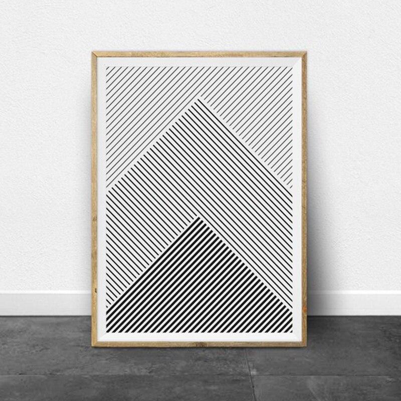 Black and White Stripes Canvas Art Prints Home Decor