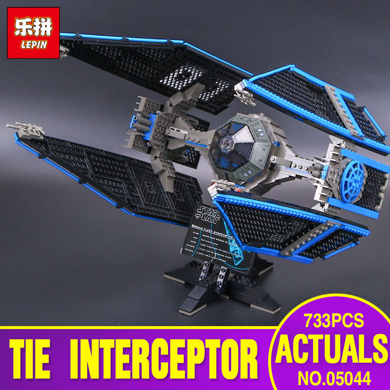 Lepin 05044 Star Series Limited Edition The TIE Interceptor Educational Bricks Model Wars Toy legoing 7181 Building Blocks gift конструктор lepin star plan истребитель tie interceptor 703 дет 05044