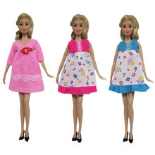 NK One Pcs Doll Pregnant Clothes For Barbie Doll Big Belly Dress Loose Clothing Role Play Doll Accessories 025A JJ(China)
