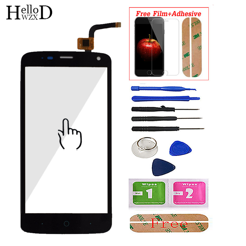 100% Touch Screen Digitizer Glass Panel For ZTE Blade L2 Plus L370 C370 L2Plus Front Touchscreen Adhesive+ Screen Protector Gift