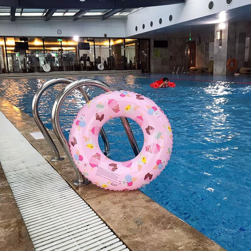 60/70/80/90CM Adult Children's Swimming Laps Buoy Swim Ring More Children Sit  Lap Inflatable Buoy Underarm Circle Toys