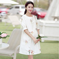 Elegant Dresses Pregnant Women Short Maternity Tunic Premama Cotton Summer Maternity Pregnancy Dress Wear Clothing 502046