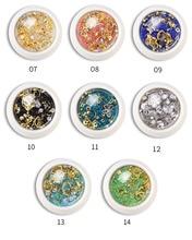 1box 3D Nail Rhinestones Micro Diamond Glass Gem  Metal Rivet Accessories Art Decorations