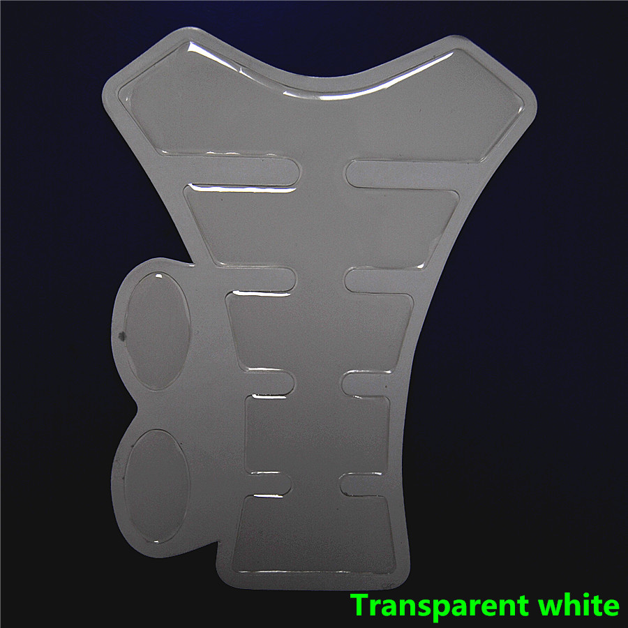Motorfiets Transparante Witte Carbon Sticker Hars Tank Pad Protector Ivoor Decal Voor Yama Hon Suzu QJC0239