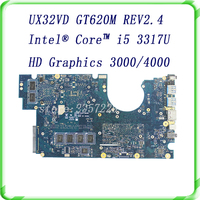 For ASUS Laptop Motherboard UX32VD SSD Intel Core I5 3317 CPU GT620M 2GB With 60 NP0MB1N00