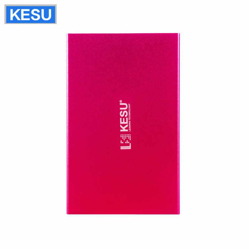 KESU قرص صلب خارجي القرص مخصص شعار HDD USB2.0 60g 160g 250g 320g 500g 750g 1 تيرا بايت 2 تيرا بايت تخزين HDD للكمبيوتر ماك اللوحي TV
