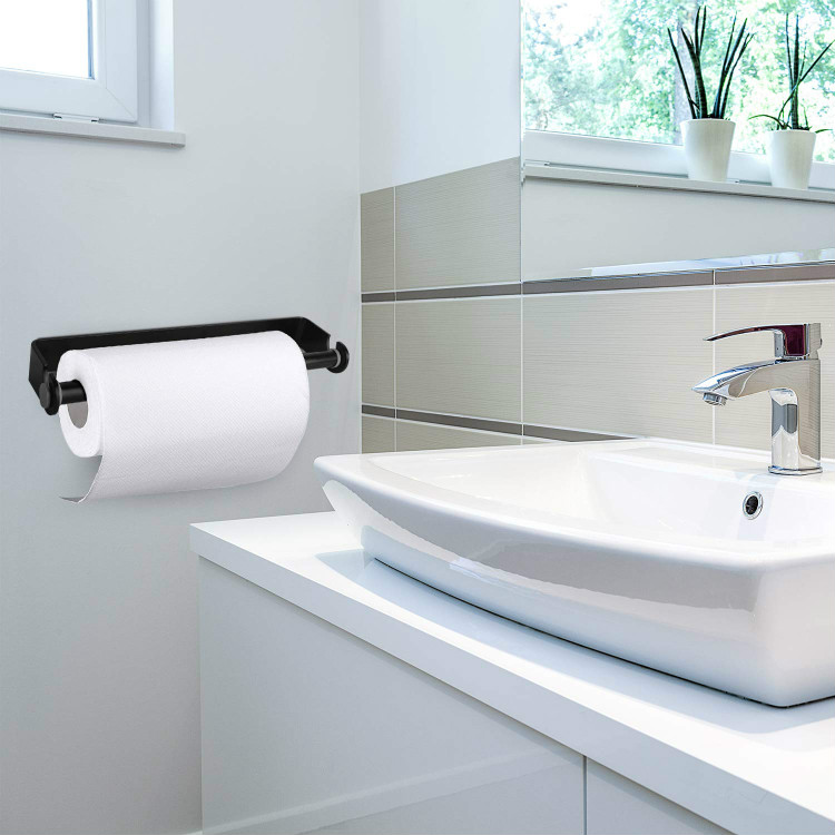 Kitchen Roll Holder Stainless Steel Paper Towel Holder Wall Mount Cling Film Dispenser Roll Paper Hand Towel Detachable Stora in Storage Holders Racks from Home Garden