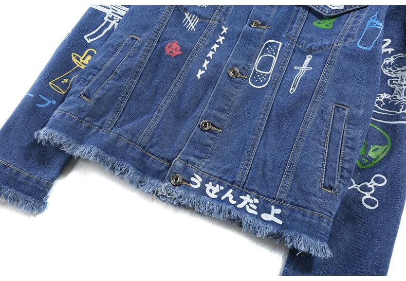 HTB1dkzCXorrK1RkSne1q6ArVVXav Hip Hop Fashion Printed Jeans Jacket Men Cotton Casual Streetwear Autumn New Denim Jacket Coat For Men