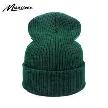 New Fashion Winter Hat Women Man Green Hat Skullies Beanie U
