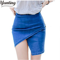 Hot Selling Women S Summer Short Solid Color Jeans Skirts Sexy Slim Ladies Denim Mini Skirts