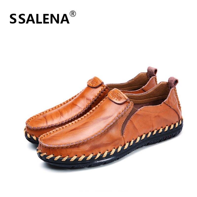 Sapatos Preto Venda Redondo Brown Quente Respirável red Masculinos amarelo Dedo Confortáveis Pé Homens Aa60804 Casuais Deslizar Vintage Sobre Do De Couro 6STqgI