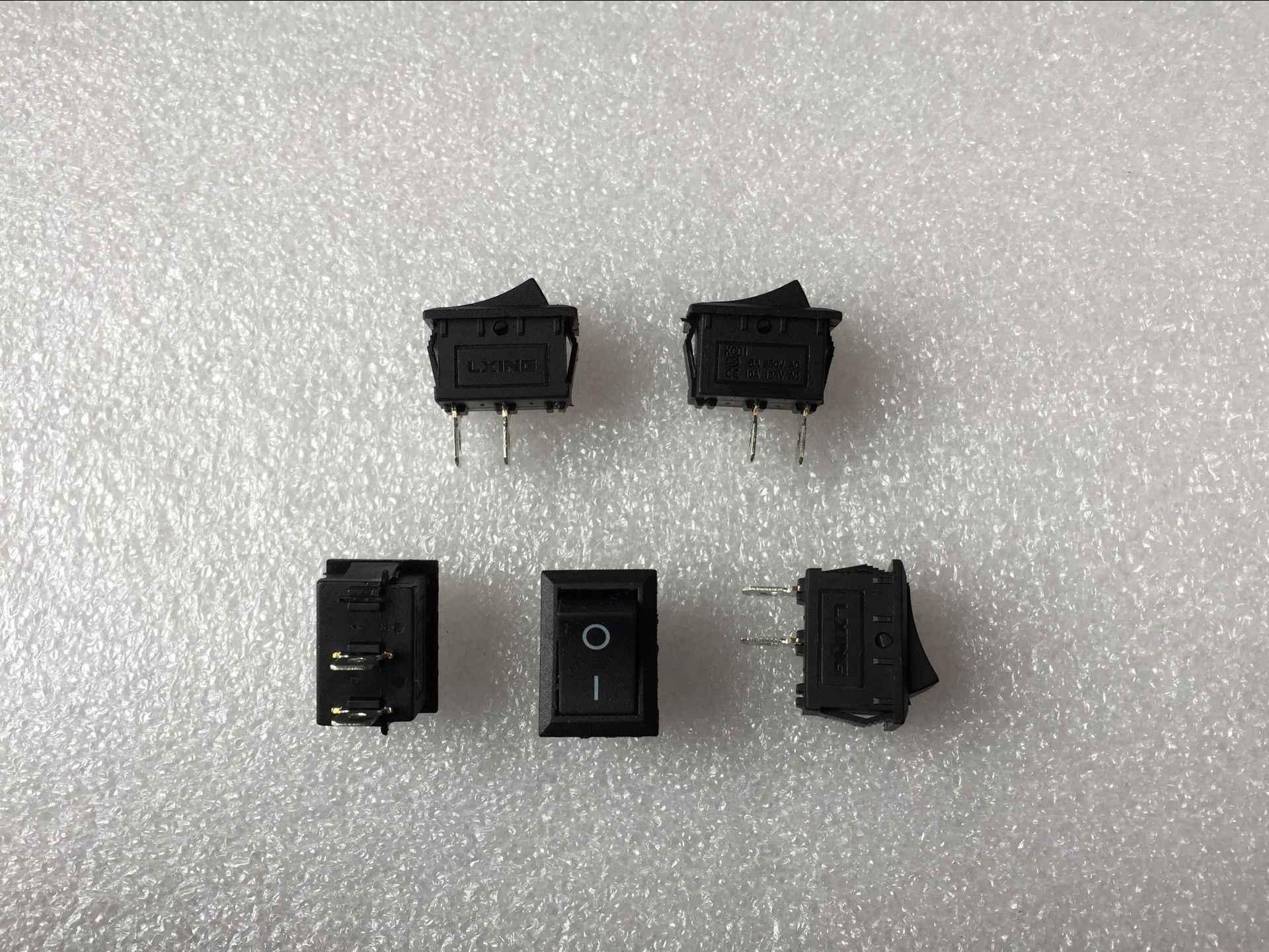 Hohe Qualität 5 Stücke 2 Pin Snap-in Auf/Aus-stellung Schnapp Boot Druckschalter 110 V/250 V