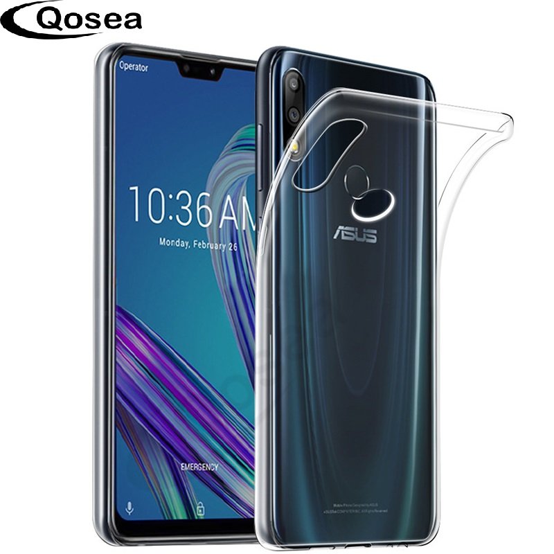 Qosea Smartphone Case For Asus Zenfone Max Pro M2 ZB631KL Slim Silicone Soft Crystal TPU For Asus Zenfone Max M2 ZB633KL Cover