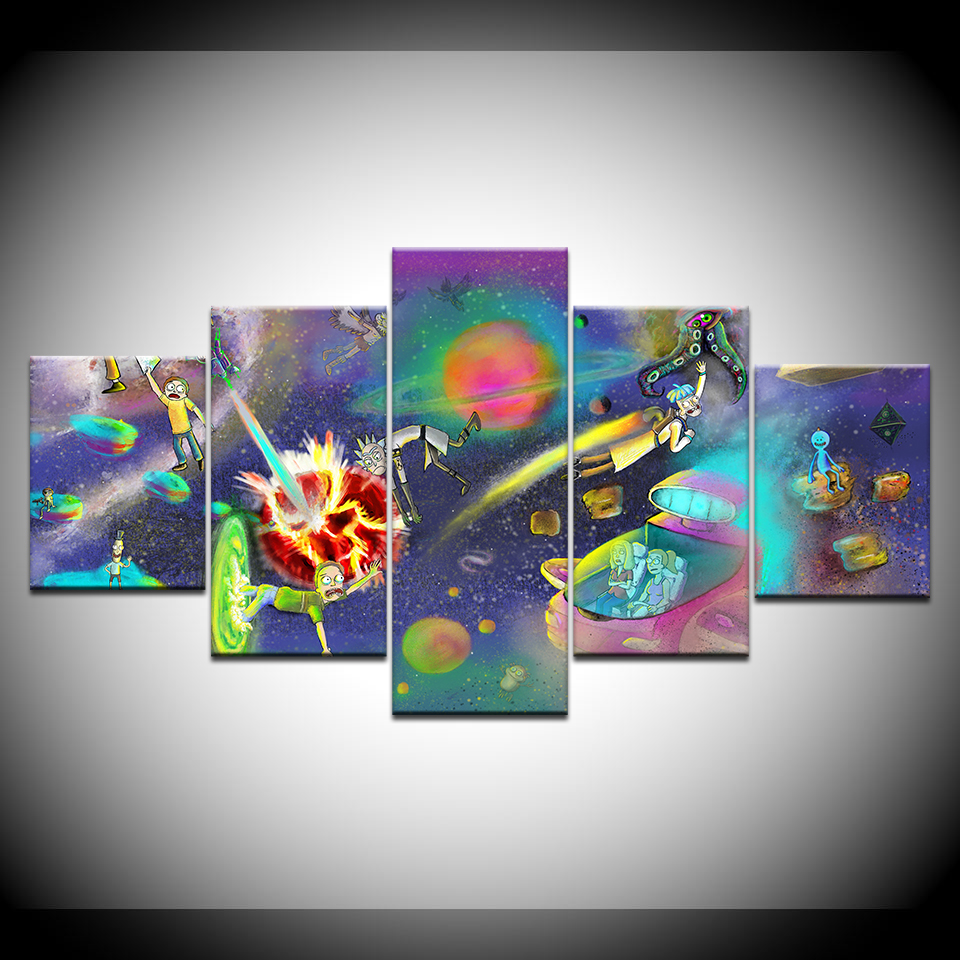 Wall Art Home Decor Frame Canvas Pictures 5 Pieces Space