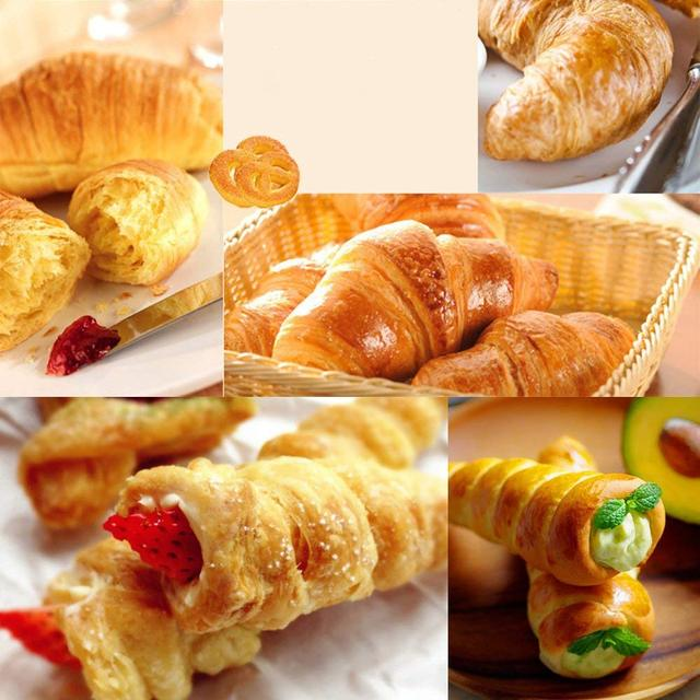5Pcs/Set Kitchen Stainless Steel Baking Cones Horn Pastry Roll Cake Mold Spiral Baked Croissants Tubes Cookie Dessert Tool