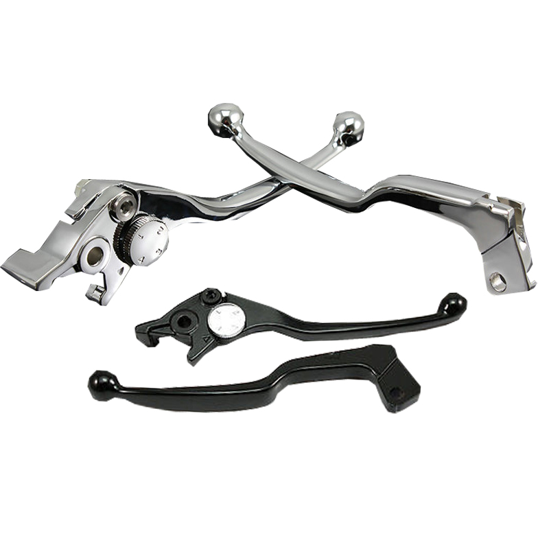 CNC Motorcycle Brake Clutch Levers for Suzuki SV650 1999-2007 SV650S 2001-2007 Katana 600F 750F 1992-2006 Chrome Black aftermarket free shipping motor parts for motorcycle 1989 2007 suzuki katana 600 750 billet oil brake fluid reservoir cap chrome