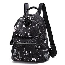 Fashion Backpack Water Proof Nylon Leisure Or Travel Bag Brand High Quality School Bag For Teenage Girls The starry sky Package цена 2017