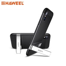 HAWEEL Simplace Series PC + TPU Protective Case with Metal Holder For iPhone X & XS XR MAX Mobile Phone Cover
