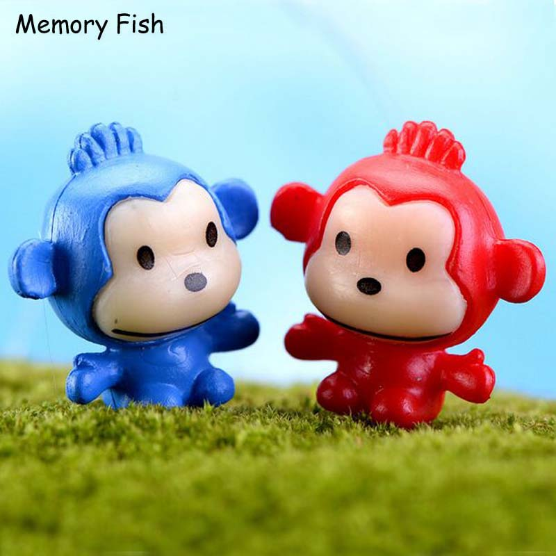 Accessories-Props Figurines Decorations-Toys Miniatures Funny Cartoon Resin Monkeys Terrarium-Ornament