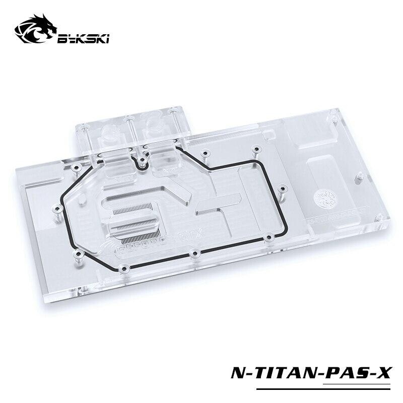Bykski bloc d'eau utilisation pour NVIDIA GTX TITAN XP/x-pascal/GTX1070/1080/1080TI fondateur/édition de référence/bloc de couverture complète RGB