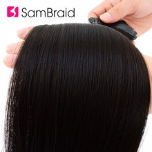 SAMBRAID Skin Weft Adhesive Hair 22 Inch Type In Hair Extenisons Silky Straight Synthetic Hair 40 Pcs/pack 17 Colors Available(China)