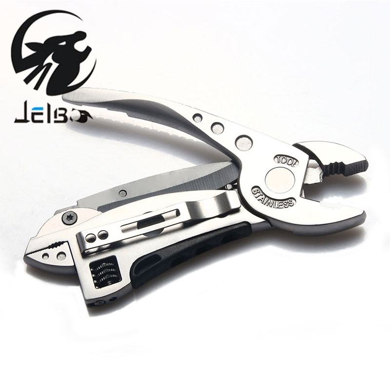 Jelbo Hand Tools Multi Outdoor Multitool Pliers Mini Screwdriver Set Kit Adjustable Wrench Jaw Spanner Pocket Knife Repair newacalox multitool pliers pocket knife screwdriver set kit adjustable wrench jaw spanner repair survival hand multi tools mini