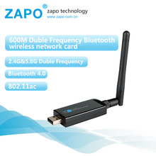ZAPO 600Mbps wi-fi community card 802.11ac wifi adapter Bluetooth Four.zero usb wi-fi receiver Twin Band wi fi dongle lan Adaptador