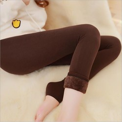 2018 Super Elastic Leggins Velvet legging Women Autumn Winter Warm fleece Female Plus Size Velvet black Stretchy pants 1