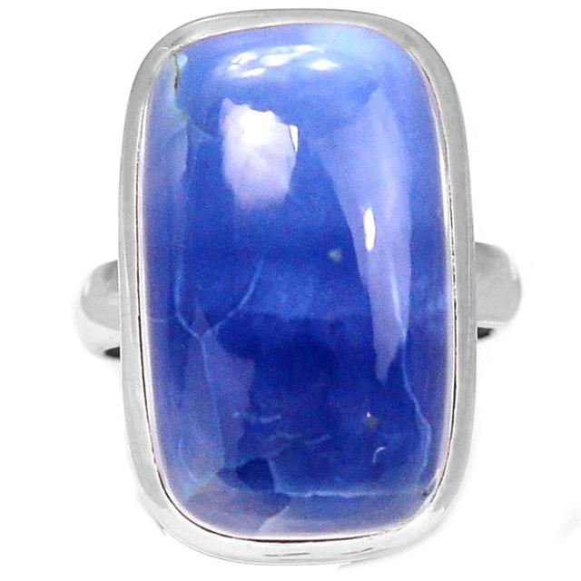 Lovegem Genuine Owyhee Opal Ring 925 Sterling Silver, Size :7.25 , AR1292