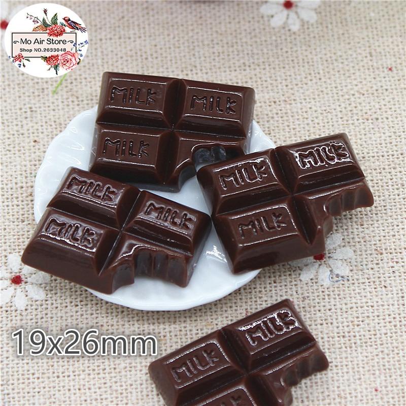Miniature Food Chocolate Sweet Candy 10PCS 19x26mm Resin Flatback Cabochon Art Supply Decoration Charm Craft