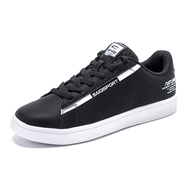 SAIQI Brand 2019 White Skateboarding Sneakers Outdoor Casual  Women Shoes Sport  Jogging for Walk Breathable Shoes US Size359008